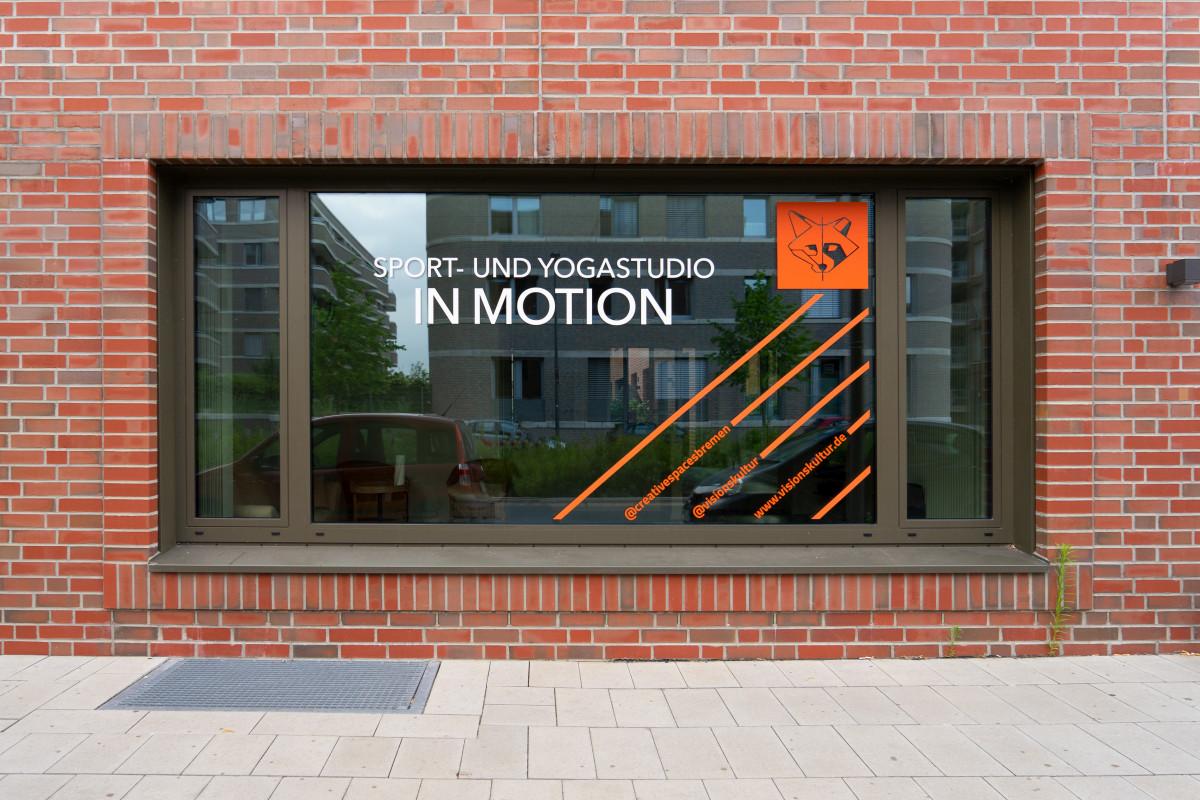 Frontale Ansicht des Fensters mit der neuen Gestaltung