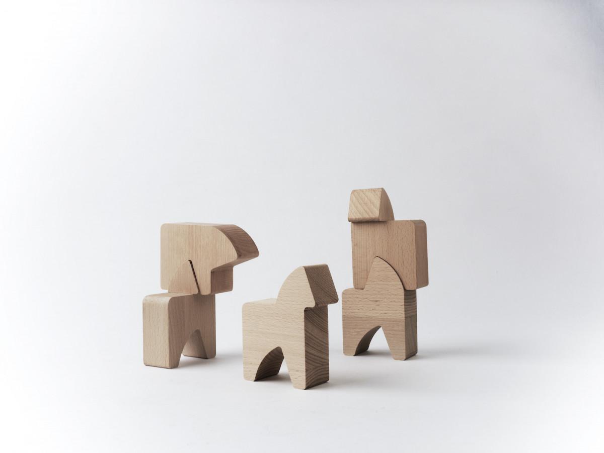 Die fünf Grundformen der Bauklötze